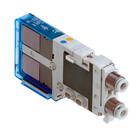 SJ, Elektromagnetický nepřímo ovládaný 4/2 a 4/3 ventil
