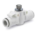 AS*2F-X900, Škrticí ventil se zpětným ventilem z těžko zápalného materiálu, Provedení In-line