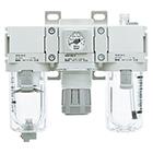 AC20-D až AC40-D Filtr + regulátor tlaku + maznice