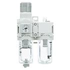 AC20A-D až AC40A-D Filtr regulátor tlaku + maznice