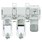 AC20C-D až AC40C-D Filtr + mikrofiltr + regulátor tlaku