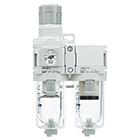 AC20D-D až AC40D-D Filtr regulátor tlaku+ mikrofiltr