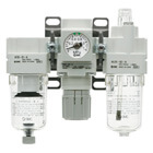 AC20-B to AC60-B, Modular Type, Air Filter + Regulator + Lubricator